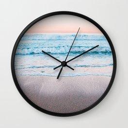 Blue orange beach Wall Clock