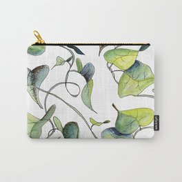 Blue and Green Vines, Pattern Carry-All Pouch