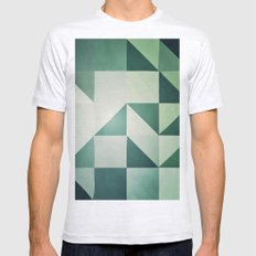 :: geometric maze x :: SMALL Ash Grey Mens Fitted Tee