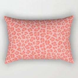 Leopard - Living Coral Rectangular Pillow