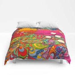 Psychadelic Illustration Comforters