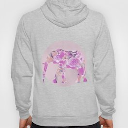 Floral Elephant Pastel Pink And Blue Hoody