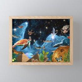 HEAVEN AND EARTH Framed Mini Art Print