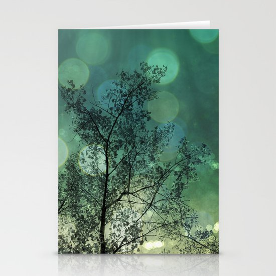 Tree Magic in Teal Stationery Cards