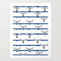 Moose Wallpaper Art Print
