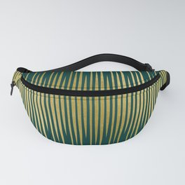Linear Gold & Emerald Fanny Pack