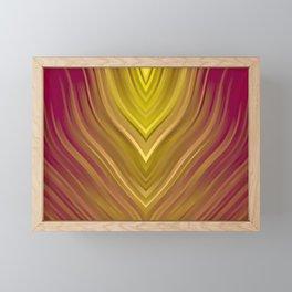 stripes wave pattern 3 ee Framed Mini Art Print