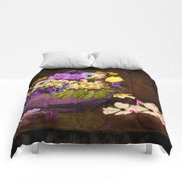 Colorful Flower Basket Comforters