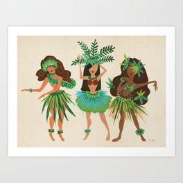 Luau Girls Art Print