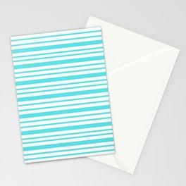 Turquoise Stripe Retro Inspired - Nadia Bonello Stationery Cards