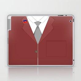 Maroon & White Haiti Laptop & iPad Skin