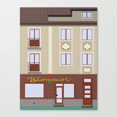 Neon sign Blommor Canvas Print