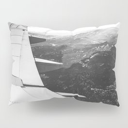 Mountain State // Colorado Rocky Mountains off the Wing of an Airplane Landscape Photo Pillow Sham