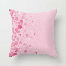 Glitters and dots Throw Pillow