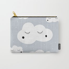 clouds and dots Carry-All Pouch