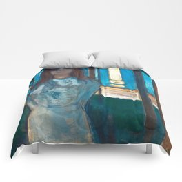 The Voice, Summer Night by Edvard Munch Comforters