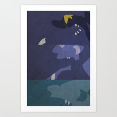 Gible, Gabite, Garchomp Art Print