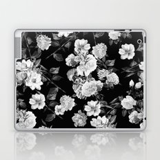 Black and White Botanic Pattern Laptop & iPad Skin