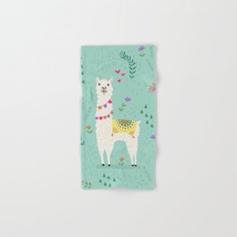 Festive Llama Hand & Bath Towel