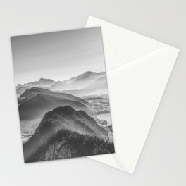 Balloon ride over the alps 3 Stationery Cards