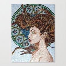 Nouveau - Mixed Glass Mosaic Canvas Print