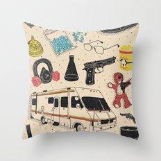 Artifacts: Breaking Bad Throw Pillow