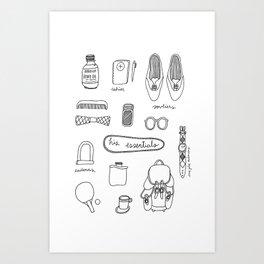 His essentials Art Print