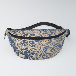 Blue and Gold Mandala Pattern Fanny Pack