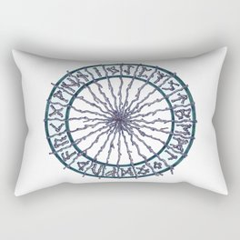Elder Futhark Rune Wheel Rectangular Pillow