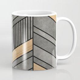 Abstract Chevron Pattern - Concrete and Wood Coffee Mug