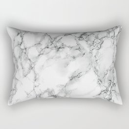 white marble IV Rectangular Pillow
