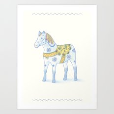 Memories of a wooden horse Art Print