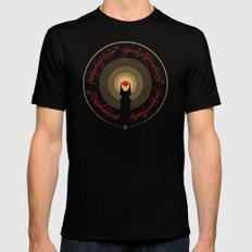 The Lord of the Rings Mens Fitted Tee MEDIUM Black