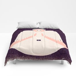 Angel in snow collection - Angel white-claret Comforters