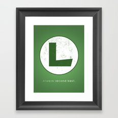 Luigi Hero Framed Art Print