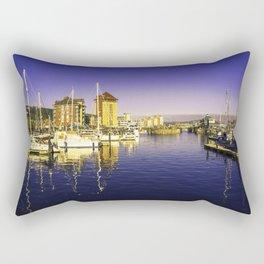 Swansea Marina Reflections Rectangular Pillow