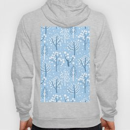 Winter forest doodles Hoody