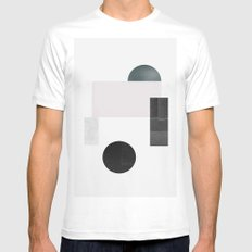 Black ball MEDIUM Mens Fitted Tee White