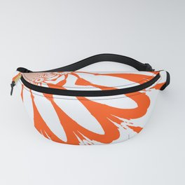 The Modern Flower White & Orange Fanny Pack