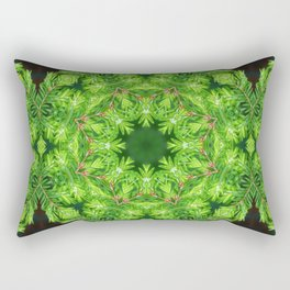 Spring green Canadian Hemlock mandala Rectangular Pillow