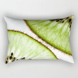 Macro photo of kiwifruit Rectangular Pillow