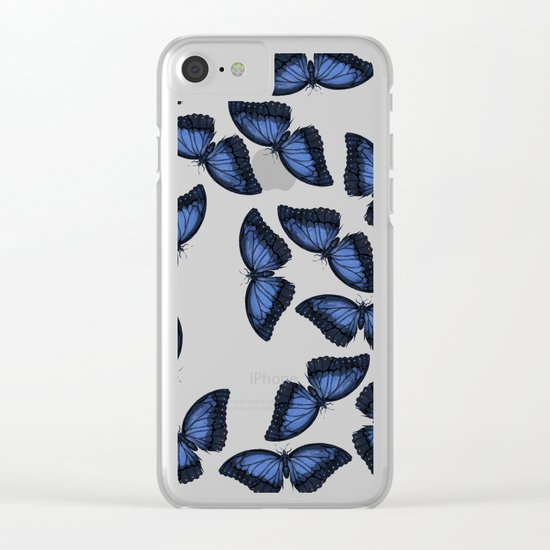 Butterfly Pattern Clear iPhone Case
