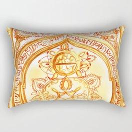 Mughal jharokha (window) Rectangular Pillow