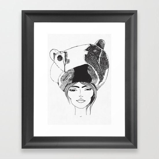 PolarGirl Framed Art Print