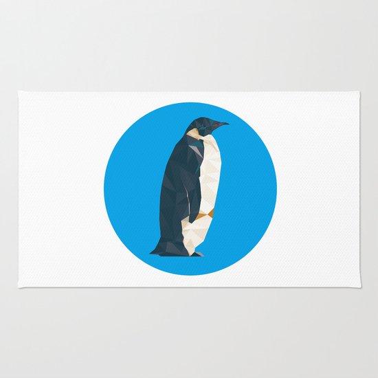 cyan penguin Rug