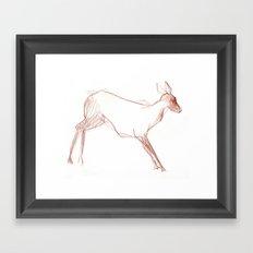 Little Doe Framed Art Print