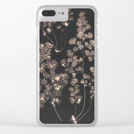 Black Maidenhair Clear iPhone Case