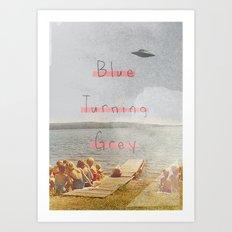Blue Turning Grey | Collage Art Print