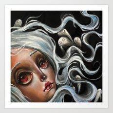 White Spirits :: Pop Surrealism Painting Art Print