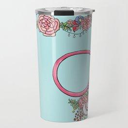 Floral Stethoscope Travel Mug
